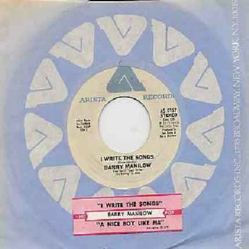 Manilow, Barry - I Write The Songs/A Nice Boy Like Me (with juke box label) - NM9/ - 45 rpm Records