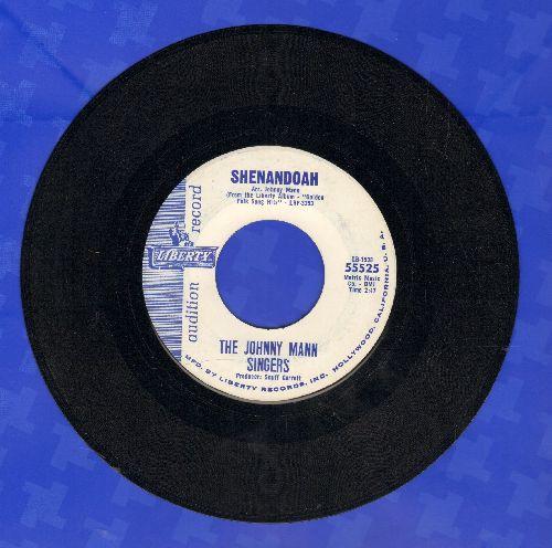 Mann, Johnny Singers - Shenandoah/Cotton Fields (DJ advance pressing) - NM9/ - 45 rpm Records