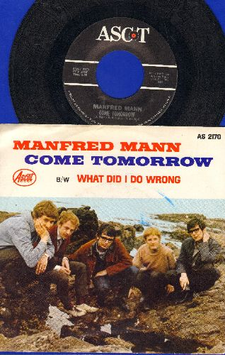 Mann, Manfred - Come Tomorrow/What Did I Do Wrong? (with picture sleeve) - NM9/EX8 - 45 rpm Records