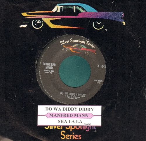 Mann, Manfred - Do Wah Diddy Diddy/Sha La La (double-hit re-issue with juke box label and company sleeve) - EX8/ - 45 rpm Records