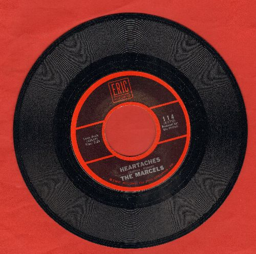 Marcels - Heartaches/Summertime (re-issue) - NM9/ - 45 rpm Records
