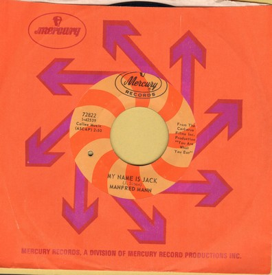Mann, Manfred - My Name Is Jack/There Is A Man (with Mercury company sleeve) (bb) - EX8/ - 45 rpm Records