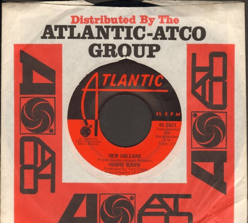 Mann, Herbie - New Orleans/Memphis Underground (with Atlanta company sleeve) - EX8/ - 45 rpm Records