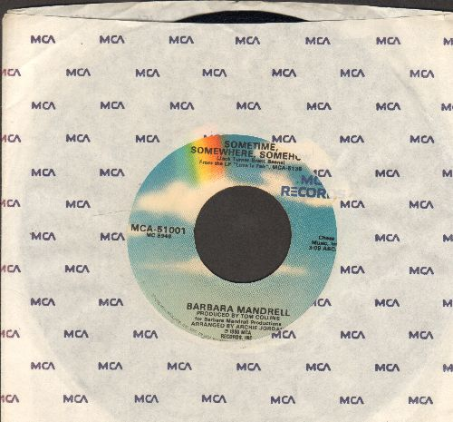 Mandrell, Barbara - Sometime, Somewhere, Somehow/The Best Of Strangers (with MCA company sleeve) - EX8/ - 45 rpm Records