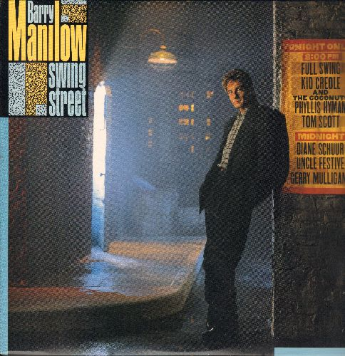 Manilow, Barry - Swing Street: Hey Mambo, Stompin' At The Savoy, Summertime, Black And Blue, Big Fun (Vinyl STEREO LP record with song lyrics on inner sleeve) - NM9/NM9 - LP Records