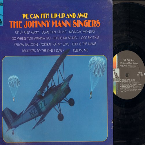 Mann, Johnny Singers - We Can Fly! Up-Up And Away: Somethin' Stupid, Yellow Balloon, Release Me, Monday Monday (Vinyl STEREO LP record) - EX8/EX8 - LP Records