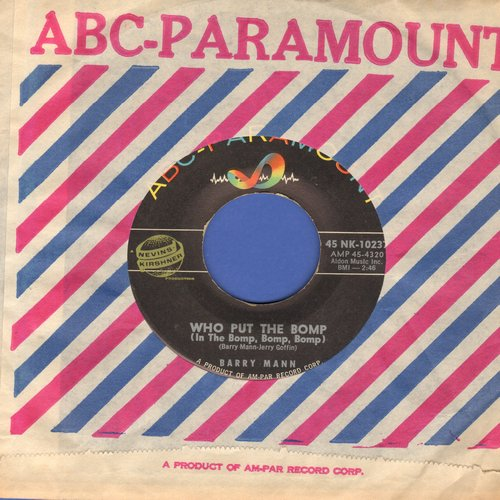 Mann, Barry - Who Put The Bomp (In The Bomp Bomp Bomp)/Love, True Love  - EX8/ - 45 rpm Records