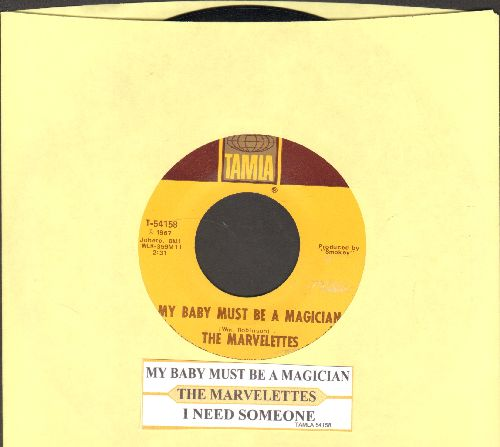 Marvelettes - My Baby Must Be A Magician/I Need Someone (with juke box label) - NM9/ - 45 rpm Records