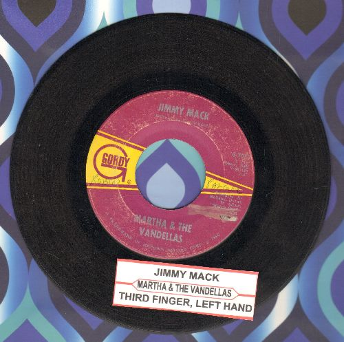 Martha & The Vandellas - Jimmy Mack/Third Finger, Left Hand (with juke box label) - VG7/ - 45 rpm Records