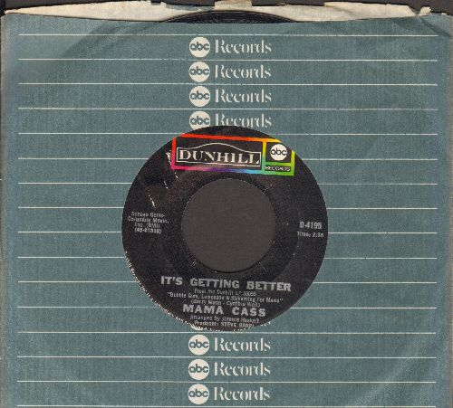 Mama Cass - It's Getting Better (as featured in the opening of film A Beautiful Thing)Who's To Blame (with Dunhill company sleeve) - EX8/ - 45 rpm Records