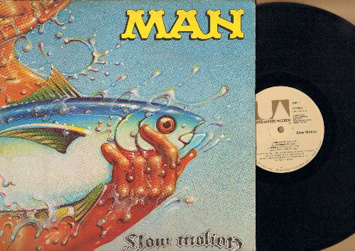 Man - Slow Motion: Hard Way To Die, Grasshopper, Rock And Roll You Out, Bedtime Bone, Rainbow Eyes, Day And Night (Vinyl STEREO LP record) - NM9/VG7 - LP Records