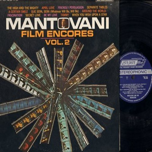 Mantovani - Film Encores Vol. 2: The High And The Mighty, Friendly Persuasion, Tammy, Secret Love, When You Wish Upon A Star, Que Sera Sera (Vinyl STEREO LP record) - M10/NM9 - LP Records