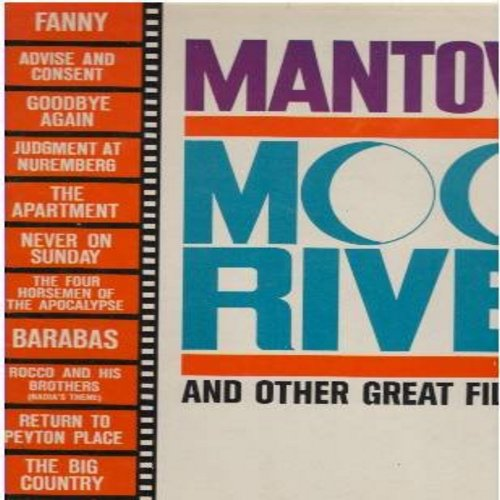 Mantovani - Moon River and other Great Themes: The Big Country, Return To Payton Place, Never On Sunday, Fanny, Advise And Consent, The Apartment (Vinyl MONO LP record) - EX8/EX8 - LP Records