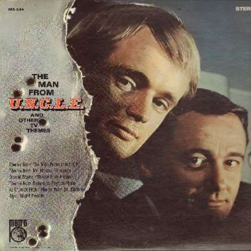 Montenegro, Hugo - The Man From U.N.C.L.E. - Original Sound Track from the Cult Classic 1960s TV Series (Vinyl STEREO LP record) - EX8/VG7 - LP Records