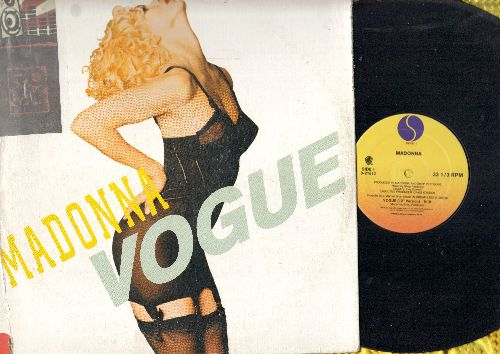 Madonna - Vogue (12 inch vinyl Maxi Single with 3 extended Dance Club Mixes, with picture cover) (soc) - VG7/VG7 - Maxi Singles