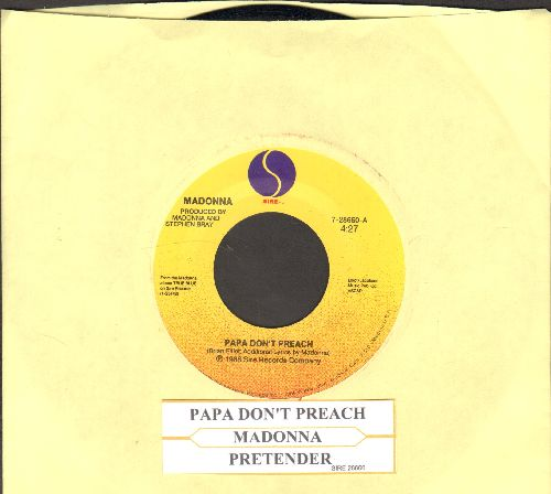 Madonna - Papa Don't Preach/Pretender (with juke box label) - NM9/ - 45 rpm Records