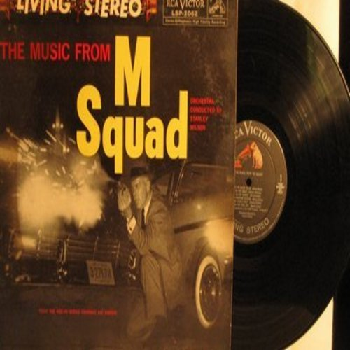 Wilson, Stanley & Orchestra - The Music From M Squad - from the NBC-TV Series starring Lee Marvin (Vinyl STEREO LP record) - EX8/EX8 - LP Records