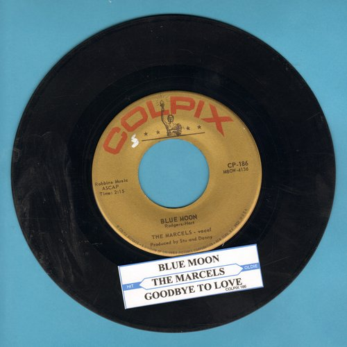 Marcels - Blue Moon/Goodbye To Love (with juke box label)  - VG7/ - 45 rpm Records