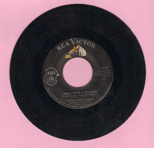 March, Little Peggy - I Wish I Were A Princess/My Teenage Castle  - VG7/ - 45 rpm Records