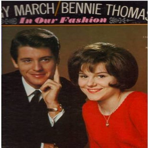 March, Little Peggy & Bennie Thomas - In Our Fashion: Blue On Blue, Tears On My Pillow, Suddenly, The Birds And The Bees (Vinyl MONO LP record, DYNAGROOVE pressing) - NM9/EX8 - LP Records