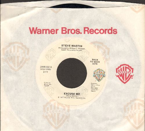 Martin, Steve - Excuse Me/King Tut (double-hit re-issue with Warner Brothers company sleeve) - NM9/ - 45 rpm Records