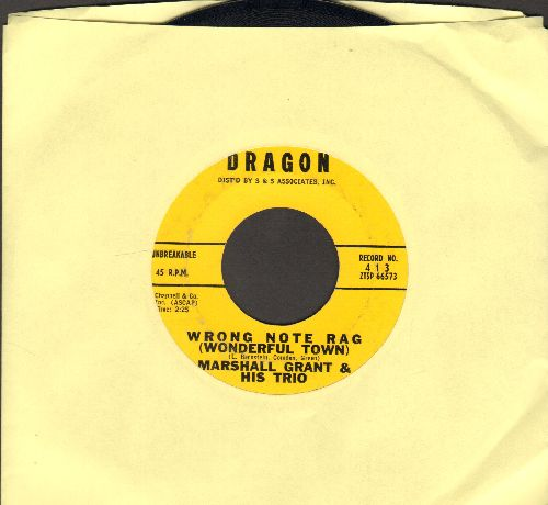 Grant, Marshall & His Trio - Wrong Note Rag (Wonderful Town)/Bahamien Merengue - EX8/ - 45 rpm Records