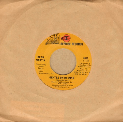 Martin, Dean - Gentle On My Mind/That's When I See The Blues - EX8/ - 45 rpm Records