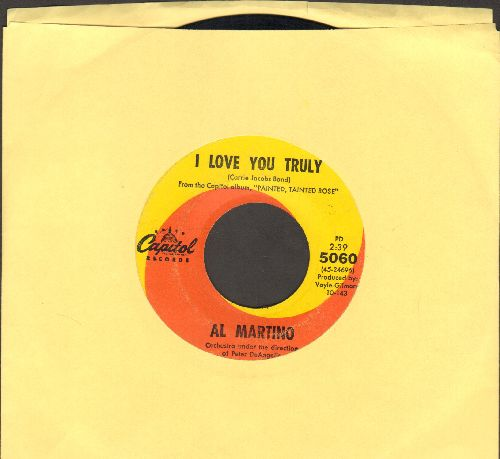 Martino, Al - I Love You Truly/Living A Lie - EX8/ - 45 rpm Records