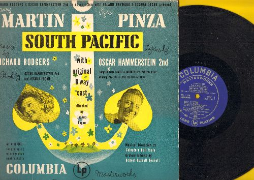 South Pacific - South Pacific - Original Cast recording of the Rodgers & Hammerstein Broadway Hit, starring Mary Martin, Ezio Pinza and Juanita Hall (vinyl MONO LP record, RARE blue label first pressing) - EX8/EX8 - LP Records