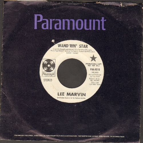 Marvin, Lee - Wand'rin Star/Best Things (DJ advance pressing with vintage Paramount company sleeve) - VG7/ - 45 rpm Records