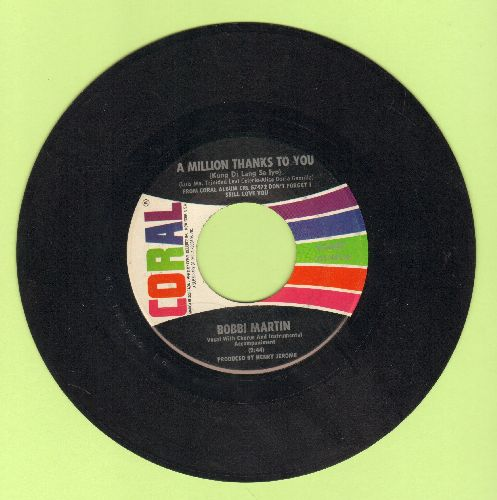 Martin, Bobbi - A Million Thanks To You/I Can't Stop Thinking Of You - EX8/ - 45 rpm Records