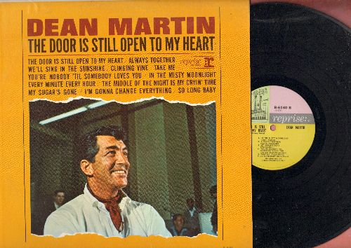 Martin, Dean - The Door Is Still Open To My Heart: We'll Sing In The Sunshine, You're Nobody 'Til Somebody Loves You, My Sugar's Gone (Vinyl MONO LP record) - EX8/EX8 - LP Records