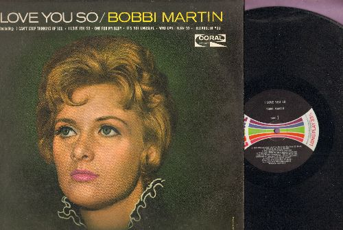 Martin, Bobbi - I Love You So: I Can't Stop Loving You, One For My Baby, It's Not Unusual (Vinyl MONO LP record, NICE condition!) - NM9/NM9 - LP Records