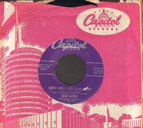 Martin, Dean - Money Burns A Hole In My Pocket/Sway (RARE vintage 2-sider with Capitol company sleeve) - EX8/ - 45 rpm Records