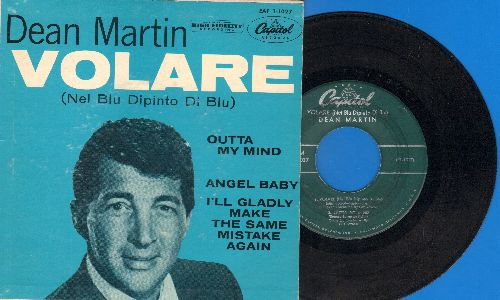 Martin, Dean - Volare/Outta My Mind/Angel Baby/I'll Gladly Make The Same Mistake Again (vinyl EP record with picture cover) - EX8/EX8 - 45 rpm Records