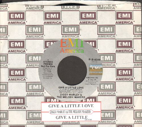 Marley, Ziggy & The Melody Makers - Give A Little Love (double-A-sided DJ advance pressing with juke box label and EMI company sleeve) - NM9/ - 45 rpm Records