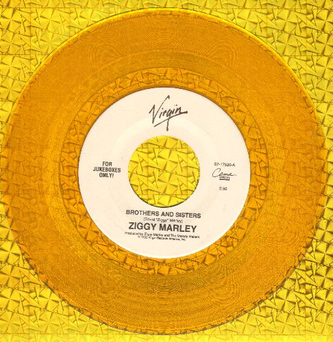 Marley, Ziggy - Brothers And Sisters/Man A Do To Man (RARE yellow vinyl pressing!) - NM9/ - 45 rpm Records