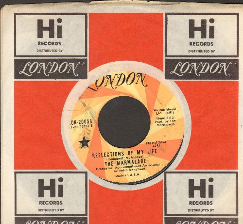 Marmalade - Reflections Of My Life/Rollin' My Thing (DJ advance pressing with company sleeve) - EX8/ - 45 rpm Records