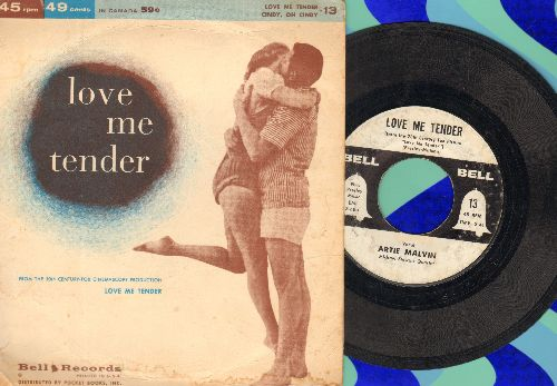 Malvin, Artie - Love Me Tender/Cindy, Oh Cindy (with picture cover) - VG7/VG7 - 45 rpm Records