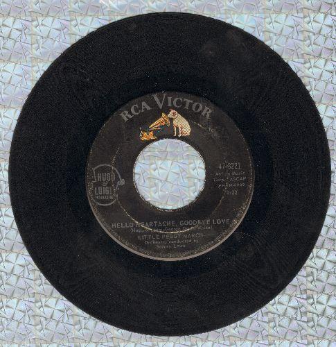 March, Little Peggy - Hello Heartache, Goodbye Love/Boy Crazy  - VG7/ - 45 rpm Records