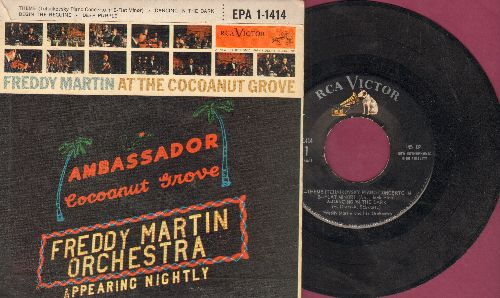 Martin, Freddy & His Orchestra - At The Coconut Grove: Theme (Tchaikovsky Piano Concerto In B-Flat Minor)/Dancing In The Dark/Begin The Beguine/Deep Purple (vinyl EP record with picture cover) - EX8/EX8 - 45 rpm Records