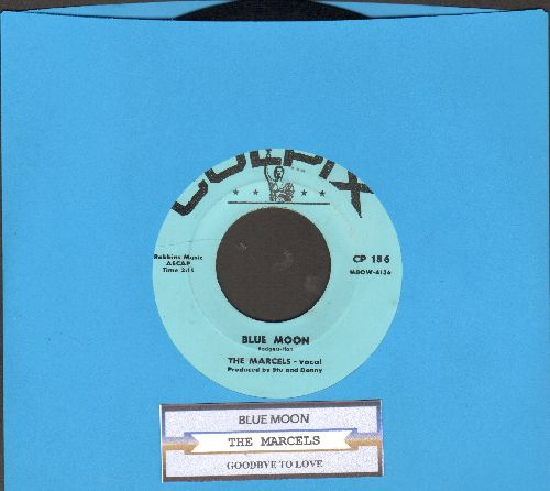 Marcels - Blue Moon/Goodbye To Love (authentic-looking re-issue with juke box label)  - NM9/ - 45 rpm Records