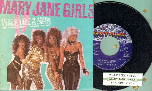Mary Jane Girls - Walk Like A Man/Shadow Lover (with juke box label and picture sleeve) - NM9/NM9 - 45 rpm Records