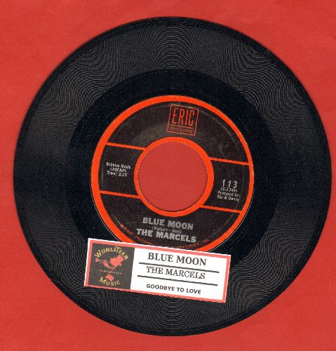 Marcels - Blue Moon/Goodbye To Love (1970s re-issue with juke box label) - NM9/ - 45 rpm Records