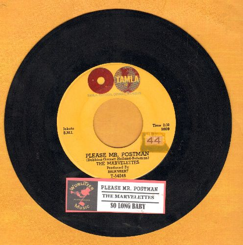 Marvelettes - Please Mr. Postman/So Long Baby (with juke box label)  - EX8/ - 45 rpm Records