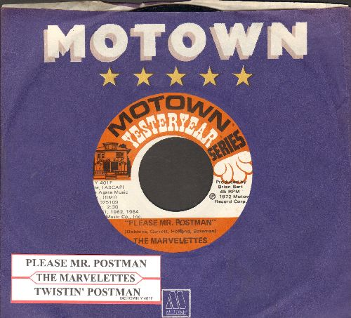 Marvelettes - Twistin' Postman/Please, Mr. Postman (double-hit re-issue with Motown company sleve and juke box label) - M10/ - 45 rpm Records