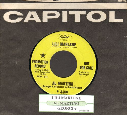 Martino, Al - Lili Marlene (My Lili Of The Lamplight)/Georgia (DJ advance pressing with vintage Capitol company sleeve and juke box label) - EX8/ - 45 rpm Records
