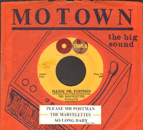 Marvelettes - Please Mr. Postman/So Long Baby (with Motown company sleeve and juke box label) - EX8/ - 45 rpm Records