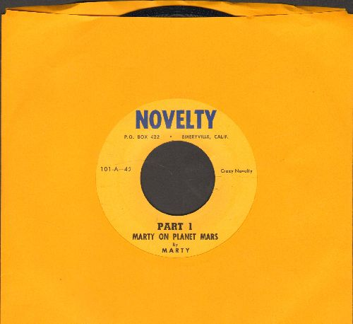 Marty - Marty On Planet Mars (Parts 1 + 2) (cut-in novelty) - EX8/ - 45 rpm Records