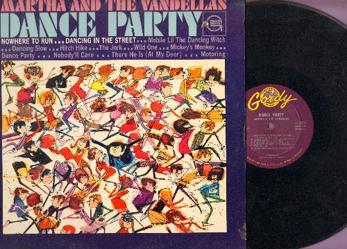 Martha & The Vandellas - Dance Party: Nowhere To Run, Dancing In The Street, Hitch Hike, Mickey's Monkey, The Jerk (vinyl MONO LP record, 1965 first pressing) - EX8/EX8 - LP Records